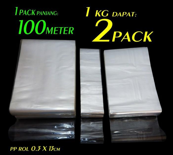 Plastik Bening Kemasan Multifungsi Plastik PP Rol ukuran 0