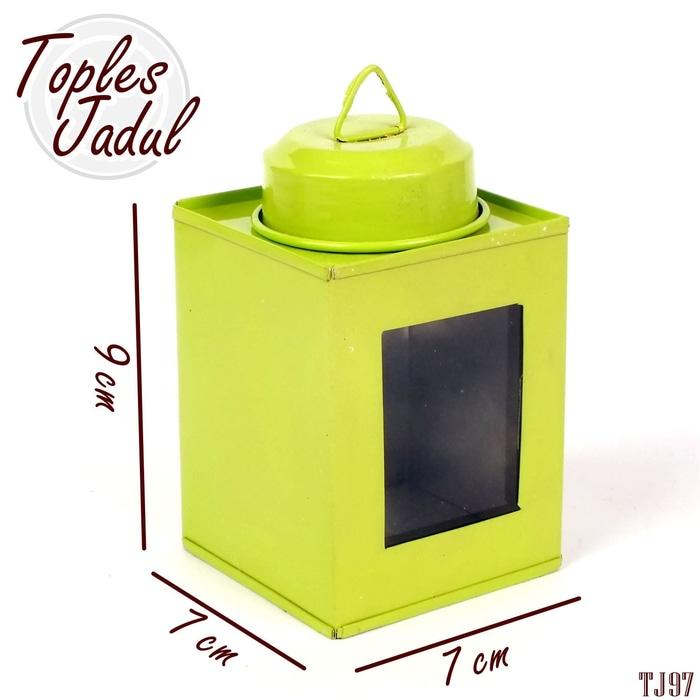 Kaleng Kerupuk Mini Zanjabil Craft Ukuran 8x8cm. Source · Toples Jadul Souvenir Toples Permen Snack